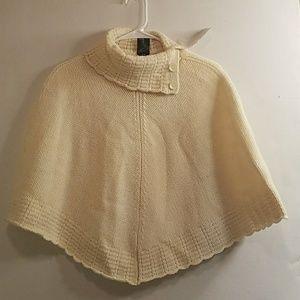 Karizma lambswool poncho sweater